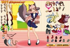 Аниме игры | Anime games Cute Cat Girl dressup
