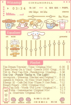Anime skins for winamp Cinnamoroll and Friends