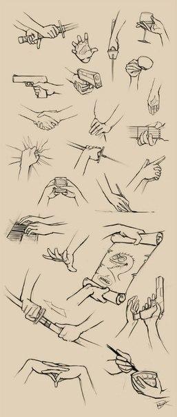 картинка как рисовать аниме руки