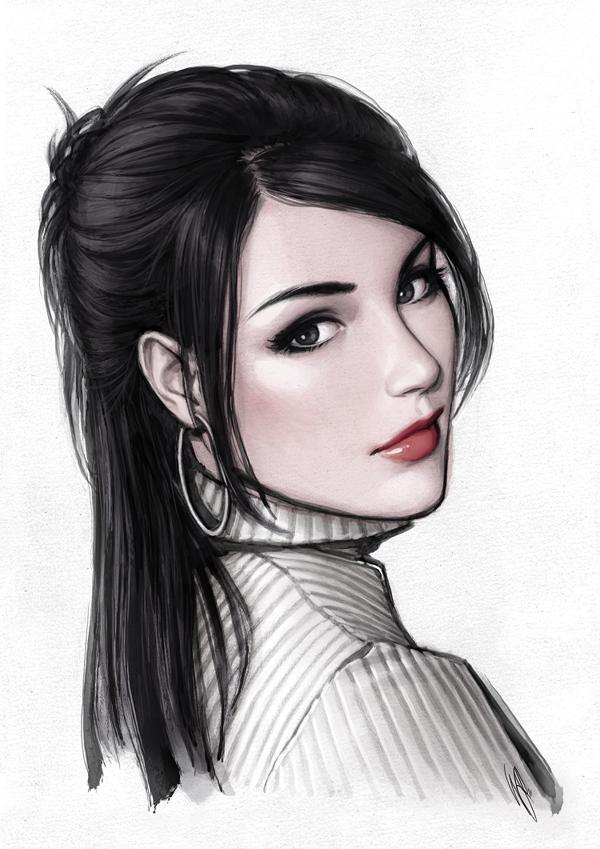 красивые картинки девушек от художника Warren Louw - 1