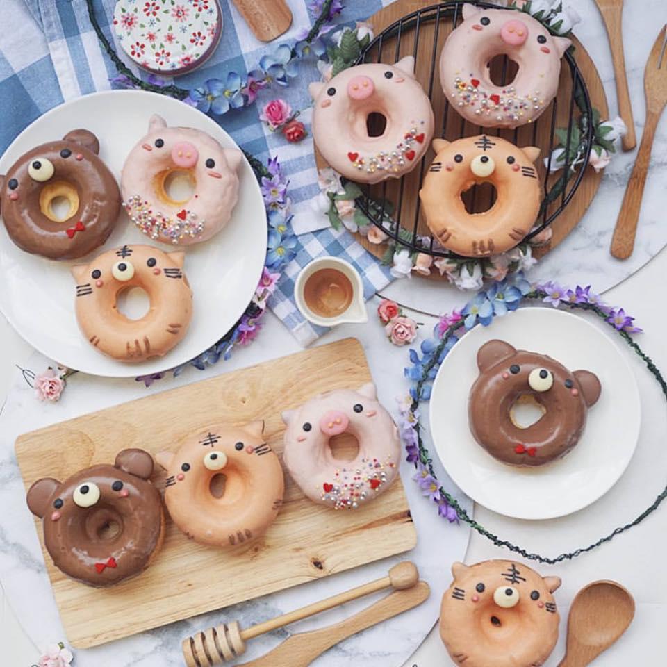 japan art anime donuts food