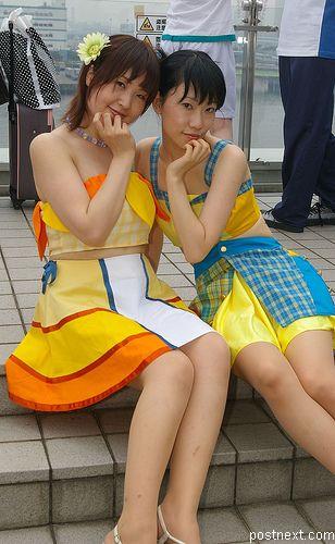 Японские девочки в стиле аниме