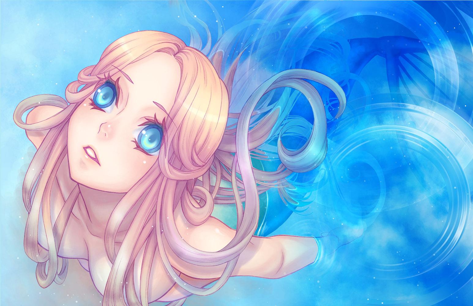 Фото аниме девушек русалок