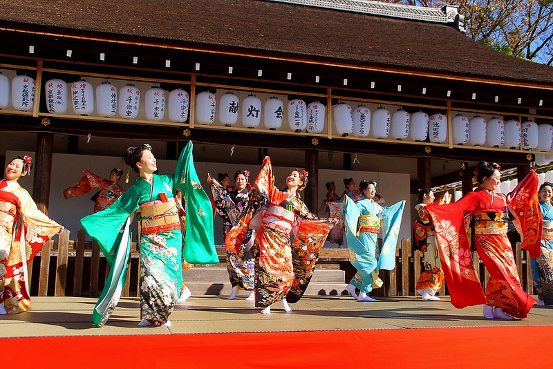 着物で集う園遊会(京小町踊り子隊)-32