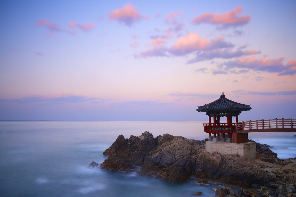 Korean Gazebo Sunset