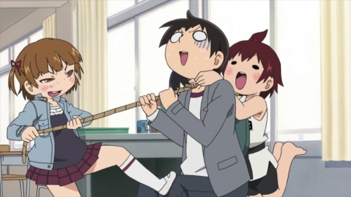 Аниме - Anime - Mitsudomoe - Отвязная троица [ТВ-1] [2010]