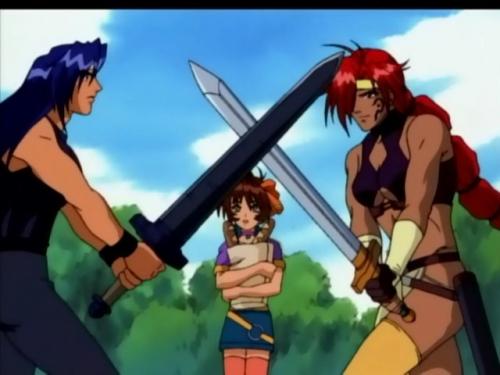 Аниме - Anime - Rune Soldier - Воин-волшебник Луи [2001]