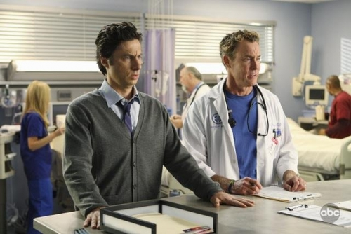 Still of John C. McGinley and Zach Braff in Scrubs