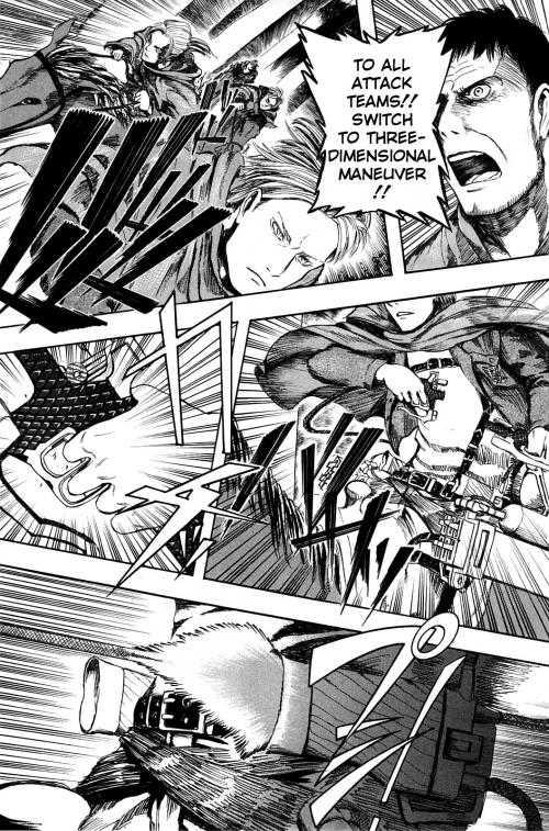 Кадры из манга Attack on Titan, Атака Титанов, Shingeki no Kyojin