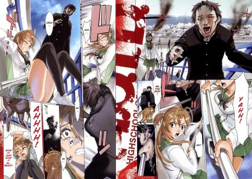Манга -             Manga - Школа мертвяков - Gakuen Mokushiroku: High School of the Dead             (манга) [2006]