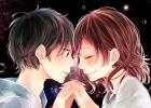 Vocaloid :  103196 black eyes hair blush brown crying holding hands short smile surprised картинка аниме anime picture