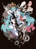 Vocaloid : Hatsune Miku 107362 blue eyes hair blush book cloak crying flower food heart horns ribbon royalty sad shorts twin tails картинка аниме anime picture