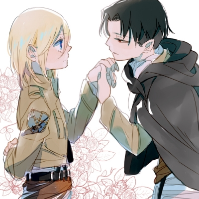 Shingeki no Kyojin : Christa Renz Levi 108131  587305  shingeki no kyojin  christa renz levi   ( Anime CG Anime Pictures        ) 108131  художник : Shiora black hair blonde blue eyes brown cloak jacket short картинка аниме anime picture