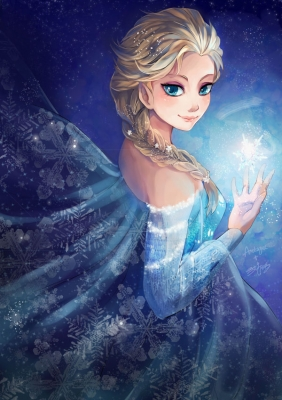 Fairy Tales : Elsa the Snow Queen 174764  661257  fairy tales  elsa the snow queen   ( Anime CG Anime Pictures      ) 174764  художник : Grey  pixiv2939363  blonde hair blue eyes braids cloak dress long snow картинка аниме anime picture