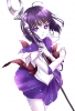 Sailor Moon : Sailor Saturn 181402 choker gloves mahou shoujo purple eyes hair short staff картинка аниме anime picture