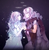 Sound Horizon : Artemisia Elefseus 181740 cloak crying dress holding hands long hair purple sad smile twins white картинка аниме anime picture