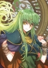Code Geass Record of Lodoss War : C.C. 182287 cloak crossover green hair long smile yellow eyes картинка аниме anime picture