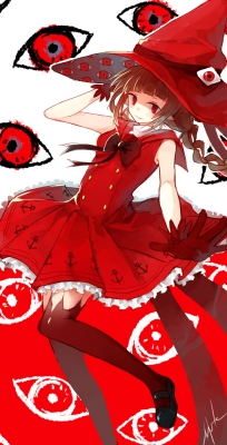 Wadanohara and The Great Blue Sea : Wadanohara 182551  669179  wadanohara and the great blue sea  wadanohara   ( Anime CG Anime Pictures      ) 182551  художник : hai do animal braids brown hair gloves hat long red eyes ribbon smile thigh highs картинка аниме anime picture