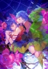 Anime CG Anime Pictures      182518 braids dress flower night purple hair red eyes ribbon short sky stars wings картинка аниме anime picture