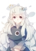 Wadanohara and The Great Blue Sea : Uomihime 182561 animal dress grey hair long purple eyes smile картинка аниме anime picture