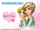 Stargate : Jack ONeill Samantha Carter 183111 blonde hair blue eyes brown couple happy heart jacket short wallpaper картинка аниме anime picture