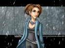 Stargate : Janet Fraiser Lilith 183122 brown eyes hair jacket jewelry ponytail rain short картинка аниме anime picture