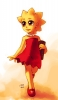 The Simpsons : Lisa Simpson 183119 blonde hair book brown eyes child dress jewelry short smile картинка аниме anime picture