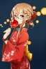 Anime CG Anime Pictures      183167 blush brown eyes hair hairpins headphones kimono long megane sweets картинка аниме anime picture