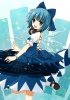 Touhou : Cirno 183358 blue eyes hair blush dress fairy happy headphones ice jewelry ribbon short stars картинка аниме anime picture
