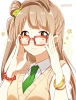 Love Live! School Idol Project : Minami Kotori 183453 blush brown eyes hair jewelry long megane side tail smile stars tie картинка аниме anime picture