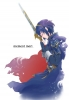 Fire Emblem : Lucina 183653 blue hair cloak gloves royalty short sword warrior картинка аниме anime picture