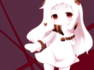 Kantai Collection : Hoppouseiki 183822 albino anthropomorphism blush child dress gloves horns long hair red eyes white картинка аниме anime picture