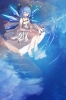 Touhou : Cirno 183847 barefoot blue hair short smile sundress water wings картинка аниме anime picture