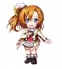 Love Live! School Idol Project : Kousaka Honoka 183857 blue eyes blush boots chibi hairpins happy orange hair short side tail skirt картинка аниме anime picture