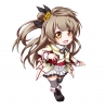 Love Live! School Idol Project : Minami Kotori 183862 blush boots brown eyes hair chibi happy jewelry long ribbon side tail skirt thigh highs картинка аниме anime picture