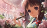 Kawaii girl - 468  картинка обои pictures wallpaper wallpapers картинки кавай каваи anime аниме kawaii девушка girl милашка девочки
