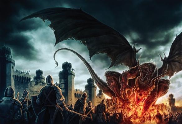 Огненный драконогромный огненный