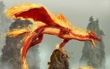 Огненный красный дракон