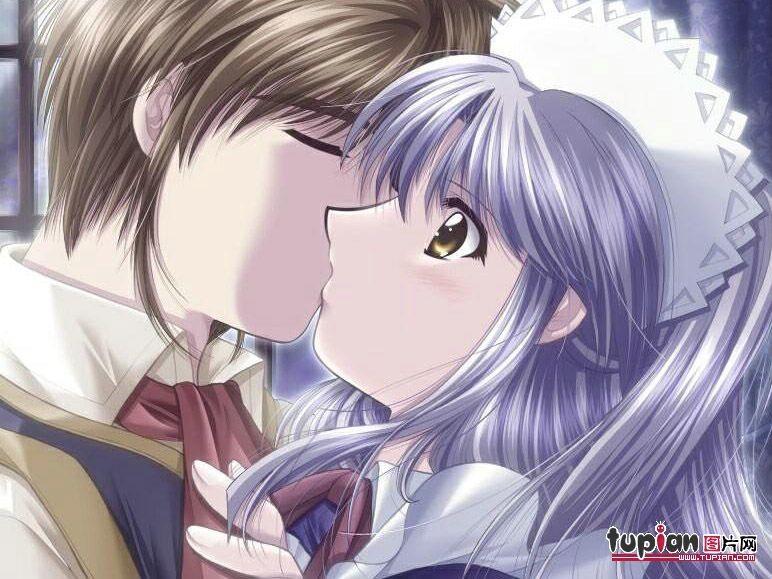 рисунки карандашом аниме поцелуи: