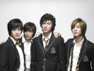 Boys after flowers
