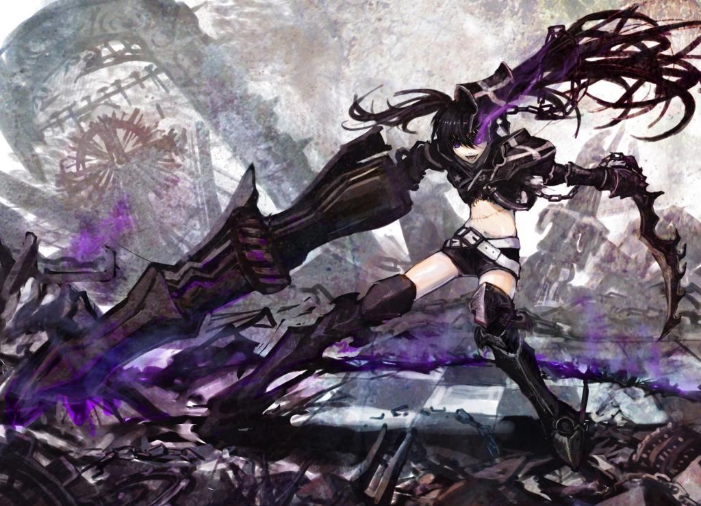Vocaloid, Black, Rock, Shooter