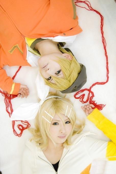 Kagami, Rin, &, Len, vocaloid, cosplay, Kagamine