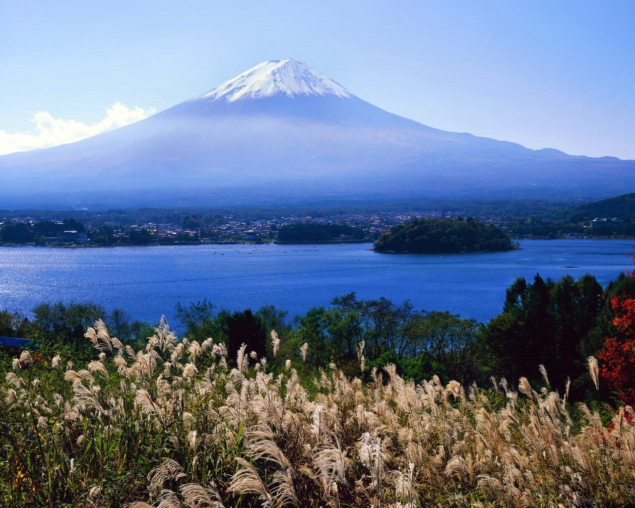 Фудзияма, вулкан, Япония, пейзажи, природа, красивые, обои, скачать