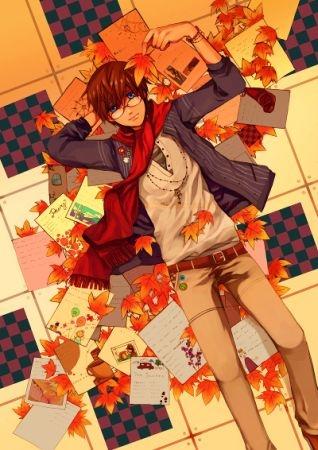 парень, и, осень, Аниме, картинки, |, разные, красивые, Anime, pictures