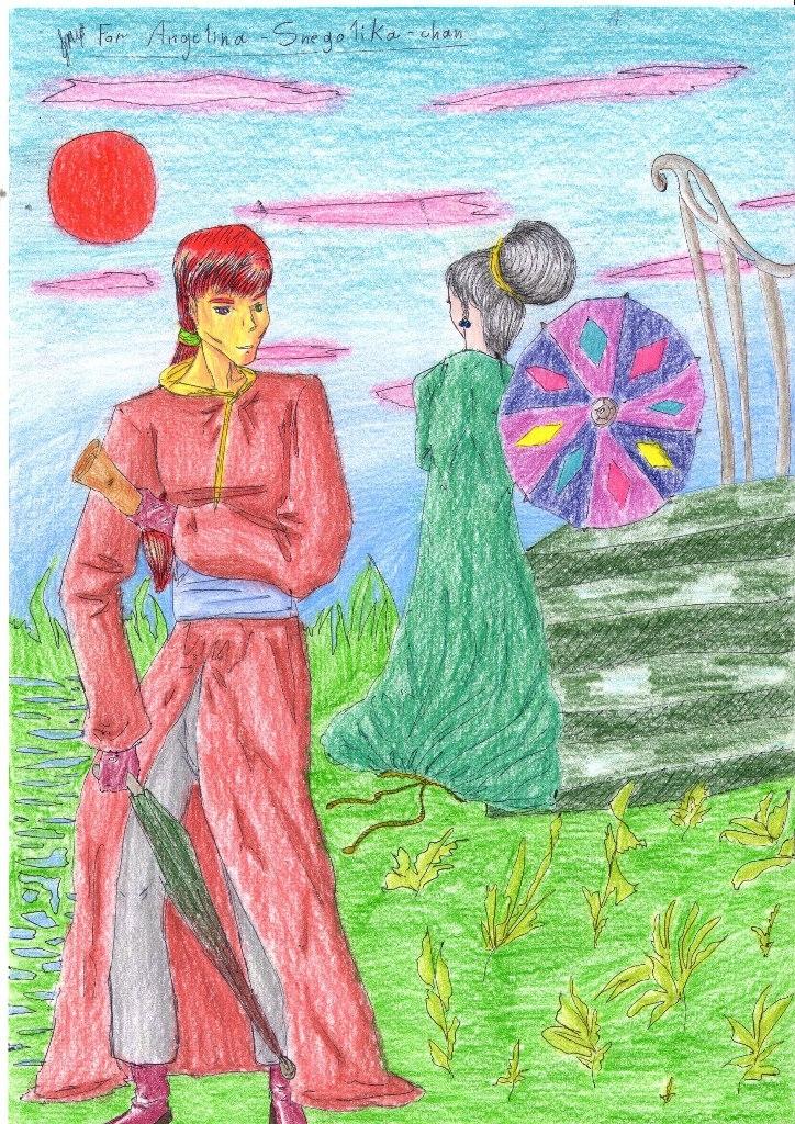Легенды, о, странствующем, золотом, рыцаре, рисунок, цветной, KatyurArt