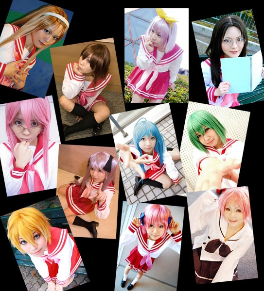 minna, lucky, star, cosplay