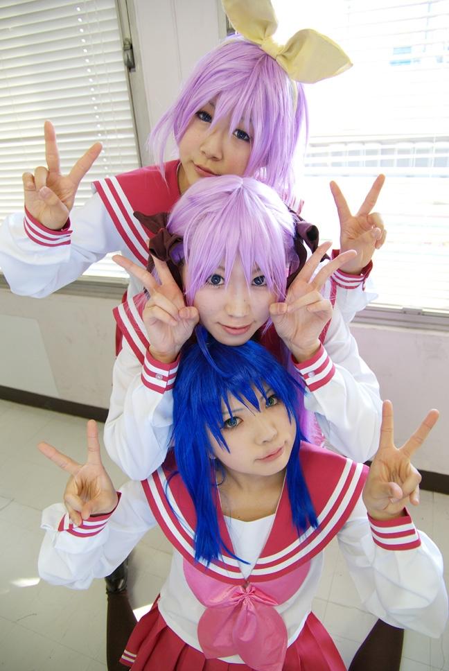 Friends, konata, izumi, hiiragi, tsukasa, kagami, lucky, star, cosplay