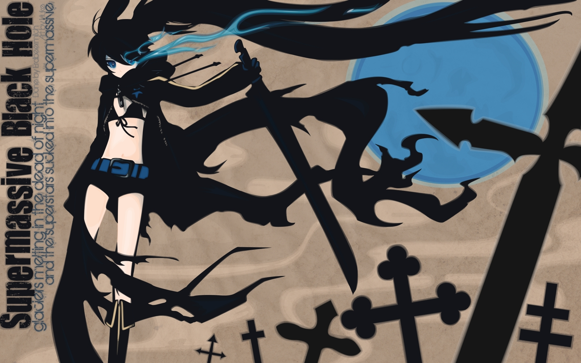 Black, Rock, Shooter, Anime, Аниме