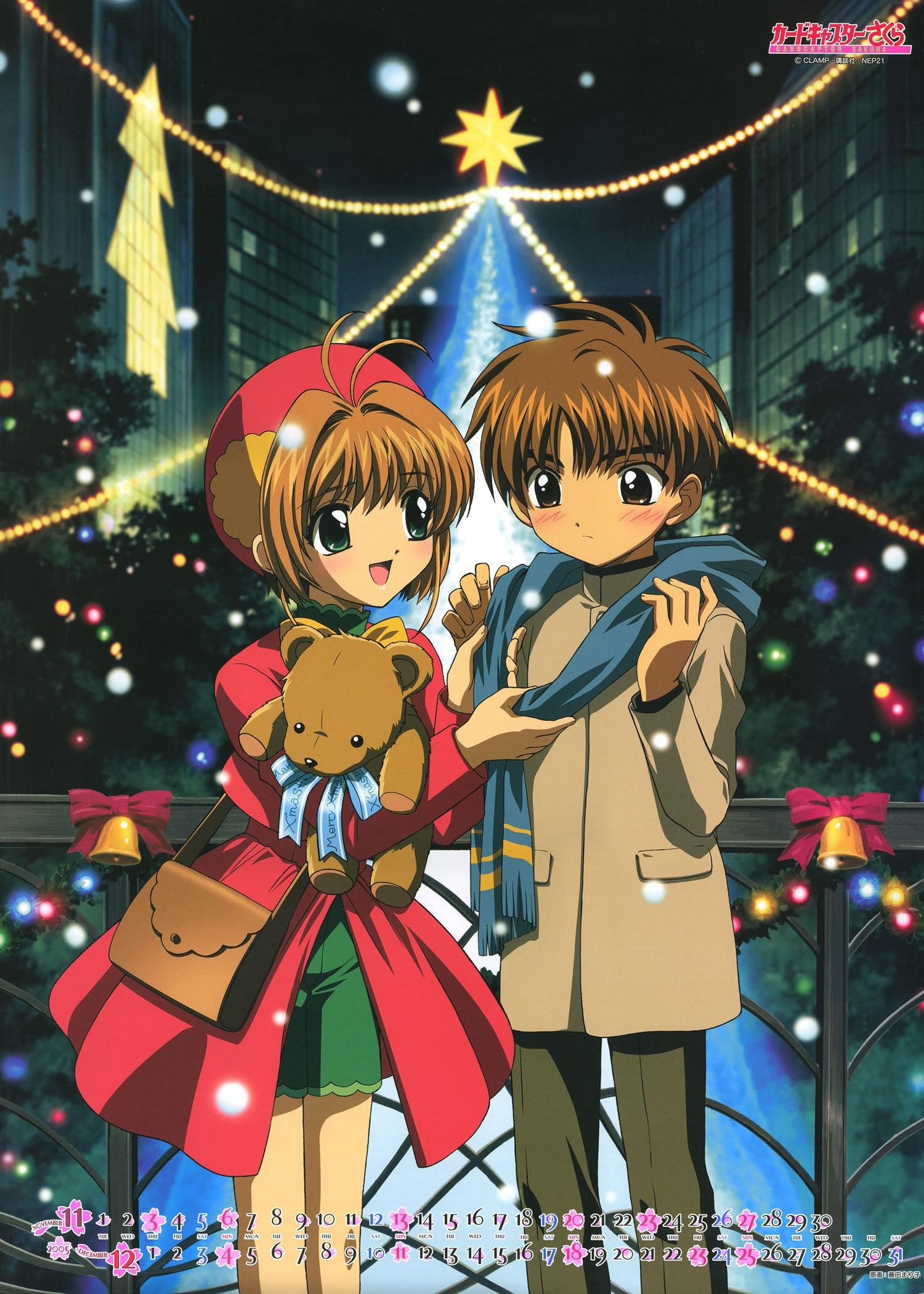 New, Year, Christmas, anime