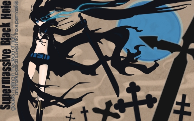Black Rock Shooter 10 Anime Black Rock Shooter Аниме